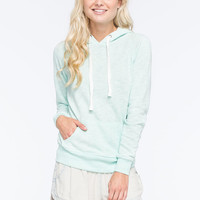 Full Tilt Essential Marled Womens Pullover Hoodie Mint  In Sizes