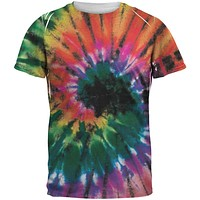 Smokey Spiral Tie Dye All Over Adult T-Shirt