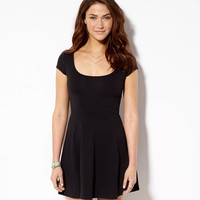 AE Kate Dress, Black | American Eagle Outfitters