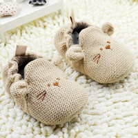 0-18M Infant Toddler Baby Knit Crib Shoes Newborn Boy Girl Cartoon Shoes Elastic = 1958154564
