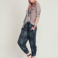 Free People Womens Go to Gauze Pant - Deep Ocean Combo,