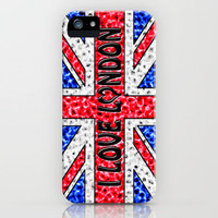 I Love London iPhone Case for iphone 5, 4S, 4, 3GS, 3G by Alice Gosling | Society6