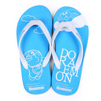 Stylish Design Summer Flat Cats Print Couple Home Casual Anti-skid Shoes Sandals [4918336324]