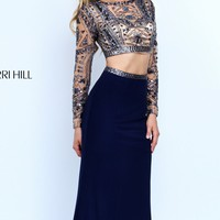 Two-Piece Long Sleeved Gown by Sherri Hill