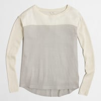 Factory swing sweater in colorblock : crewnecks & boatnecks | J.Crew Factory