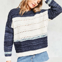 Ecote Mixed Knit Colorblock Pullover Sweater - Urban Outfitters
