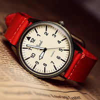 Vintage Men's Leather Watch
