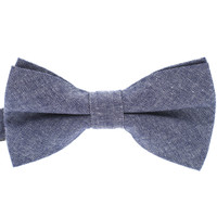 Tok Tok Designs Baby Bow Tie for 14 Months or Up (BK340, 100% Cotton, Denim)