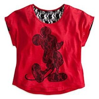 Mickey Mouse Lace Tee for Women | Disney Store