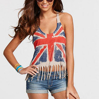London Union Jack Fringe Tank