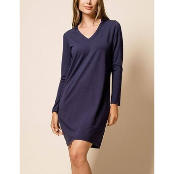 Bamboo Kendall Dress - Navy