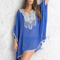 Sexy Women Kaftan Sarong Blouses Bathing Suit Beach Cover ups Bikinis Swimsuit Cover Up Beach Tunic Dress Lace Chiffon Pareo