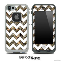 The Real Max Camo Under WHite Chevron Skin for the iPhone 4 or 5 LifeProof Case