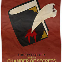Harry Potter and the Chamber of Secrets Minimalist Poster by risarodil
