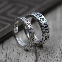 Unique Thai Forever Couple Silver Ring   100% Solid Silver   Men's and Women's