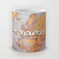 adventure map Mug by Sylvia Cook Photography