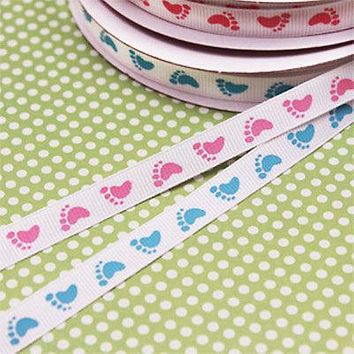 "Baby Shower Ribbon, Organza, Satin, Grosgrain, 3/8"", 5/8"", 7/8"", 1.5"" BULK"
