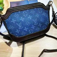 Louis Vuitton LV Popular Women Personality Denim Satchel Shoulder Bag Crossbody