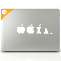 Vinyl MAC DECAL - Buy Any 2 Get 1 Free - for your laptop, car, board, and more -Geekery Decal Computer Sticker- Eat Apple- Removable Decal 1