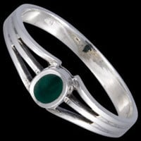 Silver ring, enamel, with stone