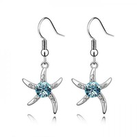 Austrian Crystal Starfish Love Earrings [R025] - $7.99 : Fashion jewelry promotion store,Supply all kinds of cheap fashion jewelry