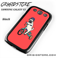 Pug Bicycle For Samsung Galaxy S3 Case UY