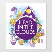 Head In The Clouds Stretched Canvas by chobopop