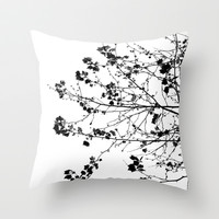 Leaves Throw Pillow by PoseManikin