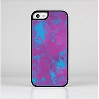 The Purple and Blue Paintburst Skin-Sert Case for the Apple iPhone 5c