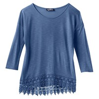 Freshman Crochet Lace Hem Top - Girls