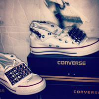Studded Converse Shoe by UrbanEclectics on Etsy