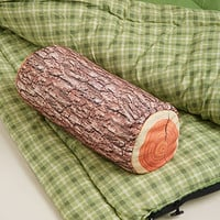 Log Print Pillow