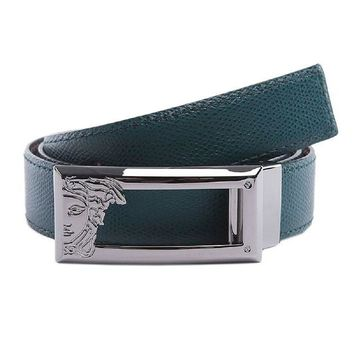 ONETOW Versace Collection Men's Adjustable and Reversible Leather Belt