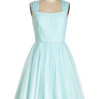 ModCloth Vintage Inspired Long Sleeveless Fit & Flare Happily Ever Laughter Dress