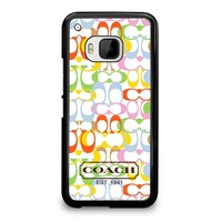 COACH NEW YORK COLORFUL HTC One M9 Case Cover