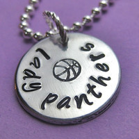 Basketball Necklace, Basketball Mom Necklace, Personalized Basketball Necklace, Custom Hand Stamped Necklace