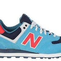 new balance mens sneakers 574 out east blue navy orange ml574sog