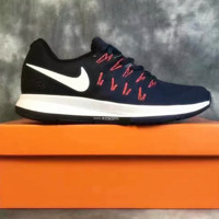 """""""NIKE"""" The new knitted net surface breathable sneaker soft-soled running casual shoes Dark blue"""