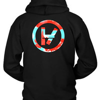 Twenty One Pilots Cloudy Logo Hoodie Two Sided