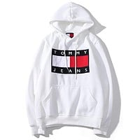 Tommy Jeans Women or Men  Fashion Casual Loose Top Sweater Pullover Hoodie
