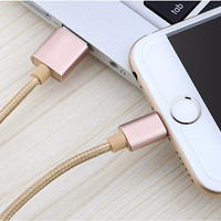 New 1.5M Metal Braided Mobile Phone Cables Charging USB Cable Charger Data For iPhone 5 5S 6S 6 6 plus IOS Data accessories