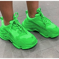 Balenciaga Daddy shoes Balenciaga Tripe-S air cushion crystal Fluorescent green