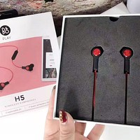 Bo&Play H5 New fashion couple sports listen to music and answer the phone headset Red