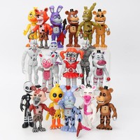 6Pcs/ lot 10cm  At  Action Figure Toy  Bonnie Foxy Chica Freddy Doll Toys For Kids As Gift