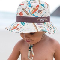 Baby Bucket Hat by Millymook and Dozer: Outrigger Chocolate