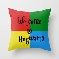 Welcome to Hogwarts Throw Pillow by StevenARTify