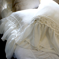 Ruffled Lace Pillow Case | Stone Cold Fox