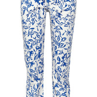 Diane von Furstenberg Current/Elliott The Relaxed Straight Leg printed low-rise jeans  – 65% at THE OUTNET.COM