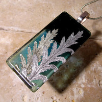 Tansy leaf necklace, plant jewellery, nature jewelry, botanical,