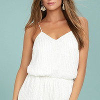 From This Day Forward Ivory Beaded Romper
